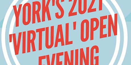 York's 2021 Virtual Open Evening tickets