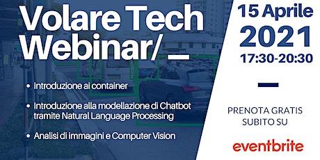 Volare Tech Webinar /_  Natural Language Processing e Computer Vision tickets