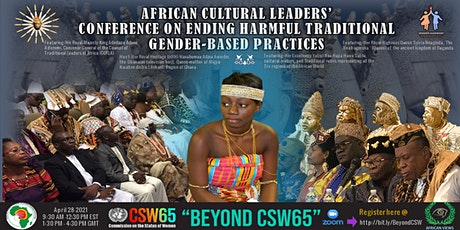 AFRICAN CULTURAL LEADERS' CONFERENCE ENDING HARMFUL TRADITIONAL GENDER-BASE tickets