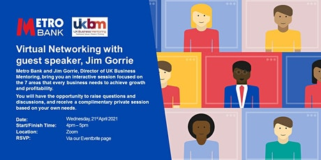 Virtual Networking with guest speaker, Jim Gorrie tickets