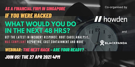 Howden Blackpanda Cyber Success Webinar: The Next Hack: Are You Ready? tickets
