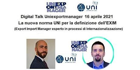 Il ruolo dell'EXIM Export Import Manager al via con la nuova norma UNI biglietti
