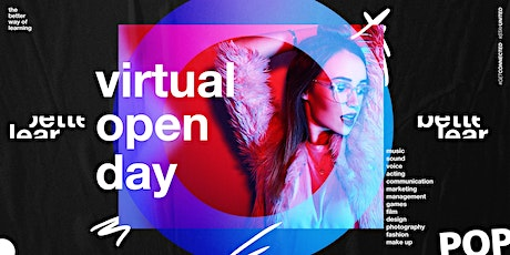 Virtual Open Day - The Better Way of Learning - Karriere in Musik & Medien Tickets