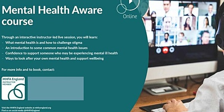 MHFA - Half-Day Mental Health Awareness ONLINE (Cheshire East Staff ONLY) tickets