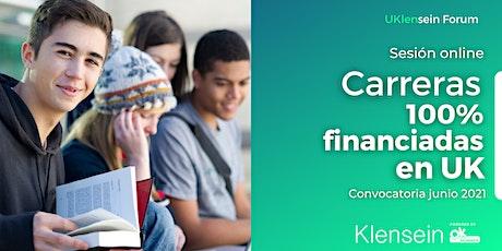 Carreras 100% financiadas en Reino Unido para estudiantes europeos entradas
