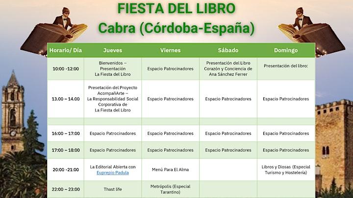 Imagen de Patrocina este espacio - Fiesta Del Libro Y La Cultura| Cabra, Córdoba, Esp