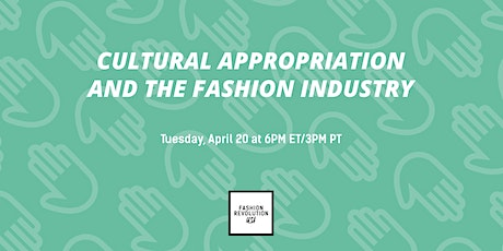 Cultural Appropriation and the Fashion Industry tickets