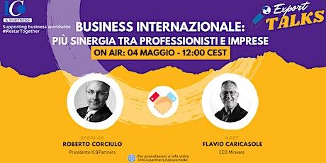 Export Talks - Business Internazionale biglietti