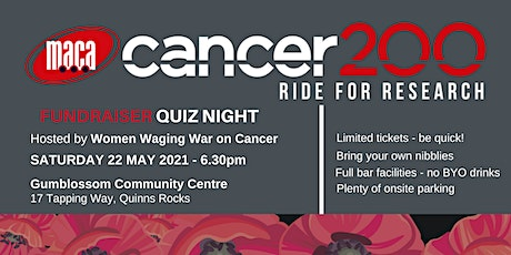 MACA Cancer 200 Ride for Research Quiz Night tickets