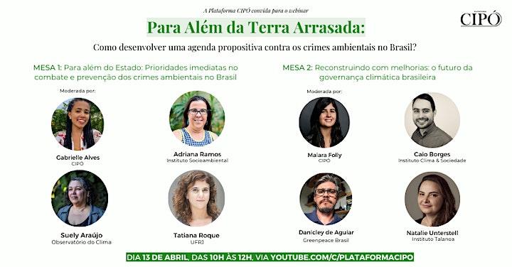 Imagem do evento Webinar Plataforma CIPÓ - Para além da 'Terra Arrasada'