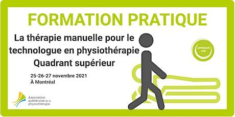 La thérapie manuelle pour le T. phys. – Quadrant supérieur (Montréal) billets