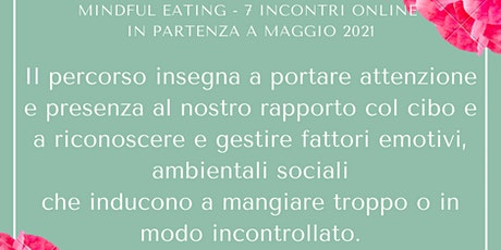 Percorso Mindful Eating tickets