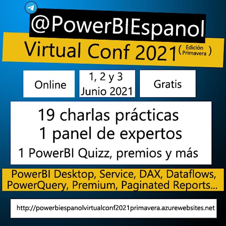 Imagen de @PowerBIEspanol Virtual Conf 2021 Primavera
