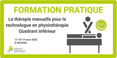 La thérapie manuelle pour le T. phys. – Quadrant inférieur (Montréal) billets