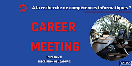 Career Days : Jeudi 20 Mai 2021 billets