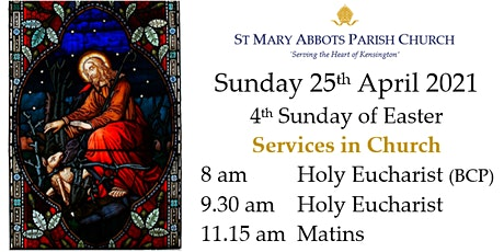 25th April 2021 Sunday Services, St Mary Abbots tickets