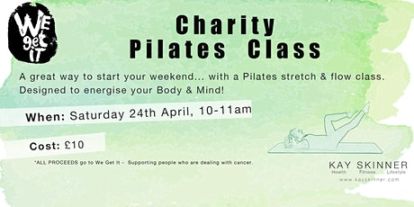 Pilates Flow Charity class for We Get It tickets
