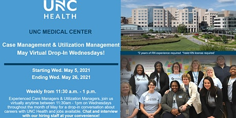 May Virtual Drop-in Wednesdays - Case Management and Utilization Management tickets