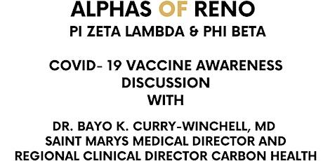 Alphas of Reno Covid- 19 Vaccine Awareness Discussion tickets