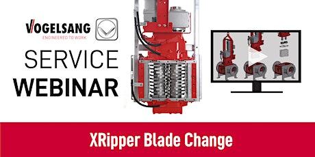 Service Training Webinar: XRipper Grinder Blade/Cutter Change ingressos