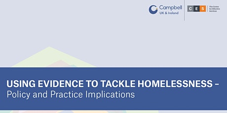 Using evidence to tackle homelessness – policy and practice implications tickets