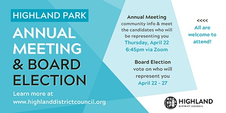 Highland District Council's 2021 Annual Meeting tickets