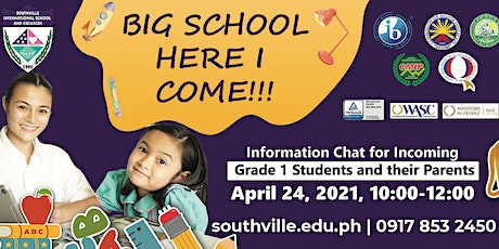 Big School Here I Come for Incoming Grade One Students and their Parents tickets