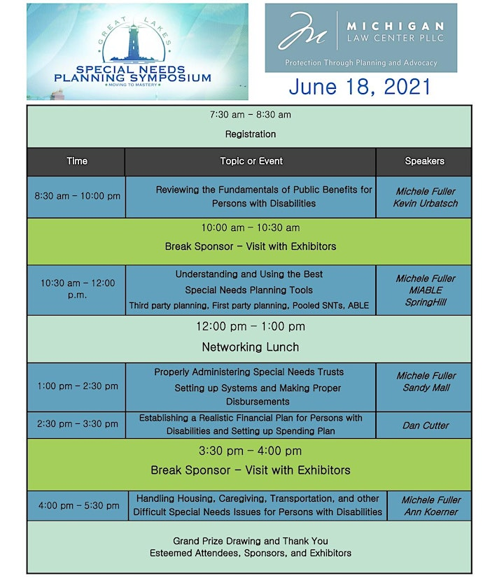 The Great Lakes Special Needs Planning Symposium image