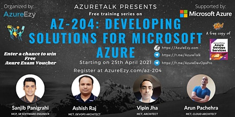 [Webinar] AZ-204: Developing Solutions for Microsoft Azure Free Training tickets
