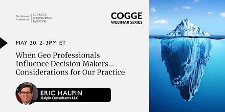 COGGE Webinar Series - Eric Halpin, Halpin Consultants LLC tickets