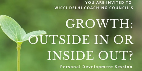 Growth: Outside In or Inside Out? tickets