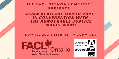 In Conversation with the Honourable Justice Mavin Wong tickets