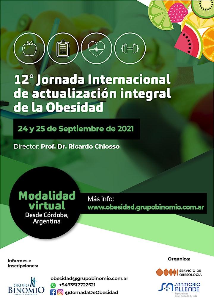 Imagen de 12° Jornada Internacional de actualización integral de la Obesidad