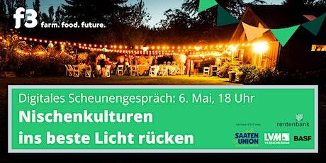 "Digitales f3-Scheunengespräch ""Nischenkulturen"" Tickets"