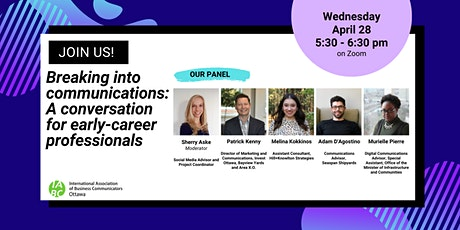 Breaking into Communications: A Conversation for Early-Career Professionals tickets