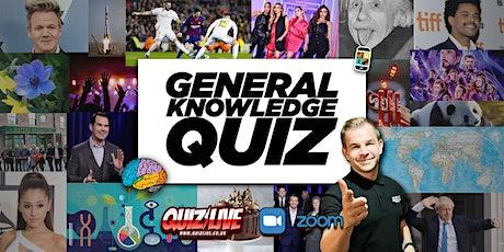 Interactive Virtual General Knowledge Quiz Live on Zoom with Carl Matthews ingressos