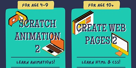 Free Online P.A. Day STEM Workshop: Learn HTML, CSS or Scratch Animation tickets