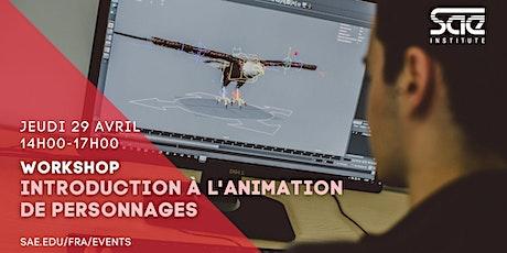 Cours d'initiation à l'animation de personnage dans les jeux vidéo billets