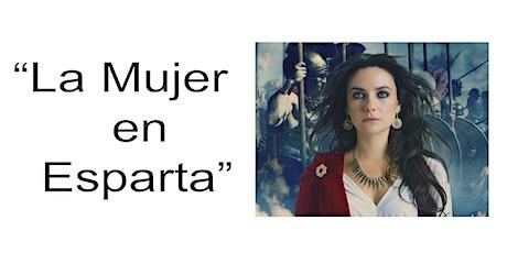 """Charla online """"La mujer en Esparta"""" boletos"""