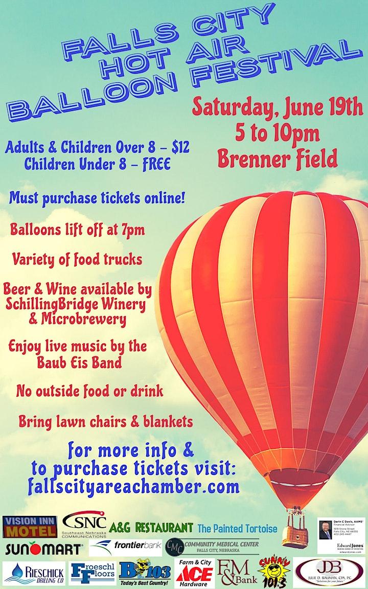 Falls City Hot Air Balloon Festival image