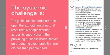 Sustainable Fashion Funding- New Initiative Visioning tickets