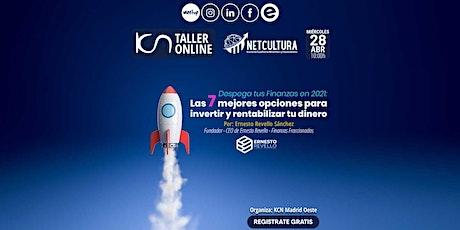 Taller Online Despega tus Finanzas en 2021 - 28Abr entradas