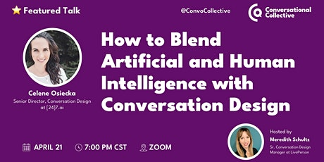 How to Blend Artificial and Human Intelligence with Conversation Design tickets