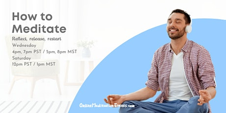 How to Meditate(Live Group Guided Meditation)  - Online Meditation Events tickets
