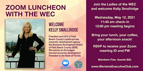 Women's Executive Club  May Zoom Luncheon with Kelly Smallridge tickets