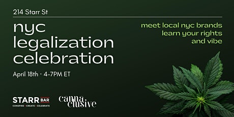 NYC Legalization Celebration tickets