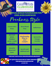 Virtual Bingo Fundraiser for Cool Kids Campaign, Preakness Style tickets