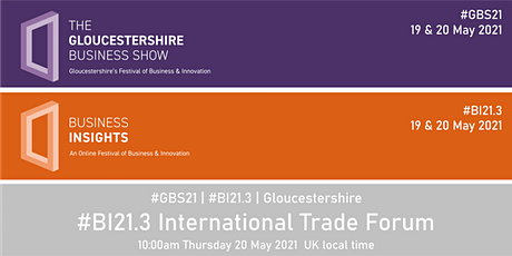 #BI21.3 International Trade Forum tickets
