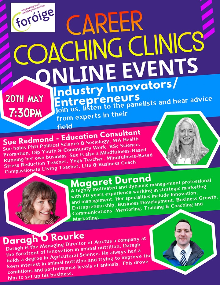 Foróige Careers Coaching Clinic - Industry Innovators/ Entrepreneurs image