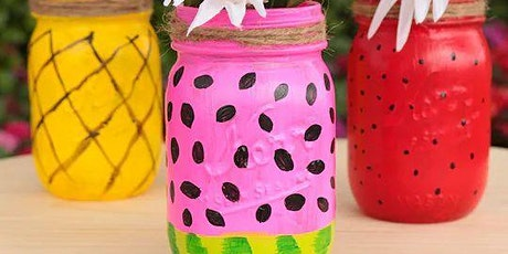 Mason Jar Flower Vase Painting Take & Make tickets